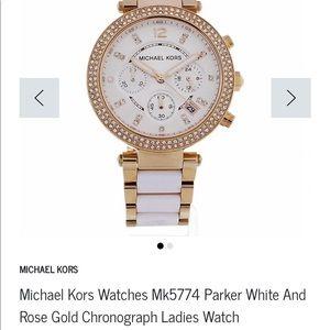 Michael Kors MK5774 White & Rose Gold Watch